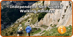 Independent Self Guided Walking, Hiking and Trekking Holidays